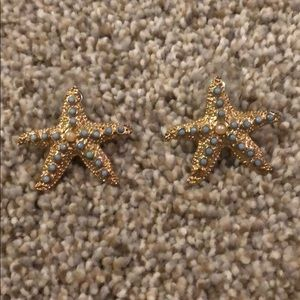 Lilly Pulitzer starfish gold earrings